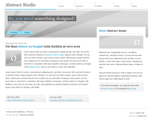Abstract Studio Layout 1