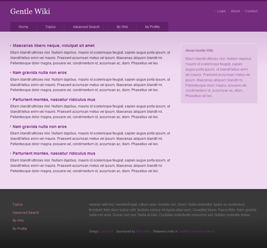 Gentle Wiki Layout 1