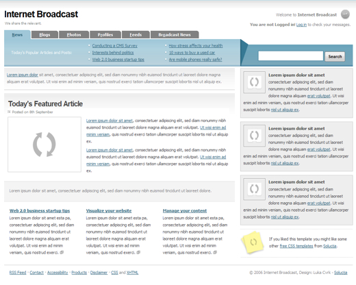 Internet Broadcast Layout 1