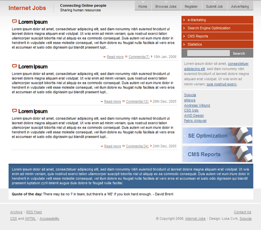 Internet Jobs Layout 1
