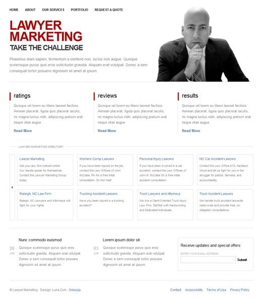 Lawyer Marketing Layout 1
